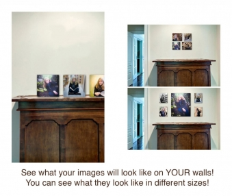 See what your images will look like on YOUR walls!